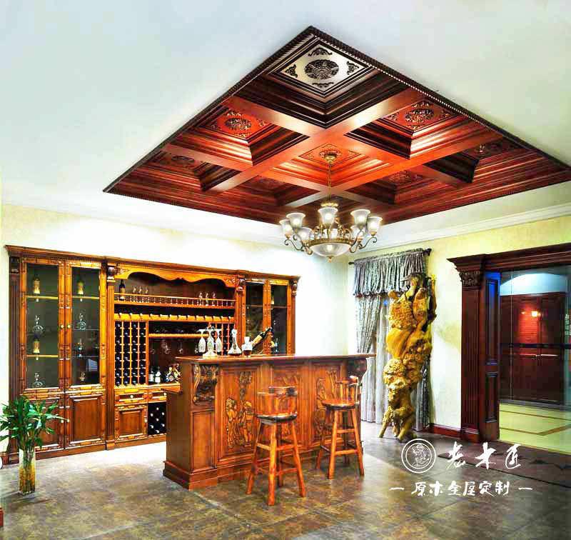 中式天花吊顶设计效果图