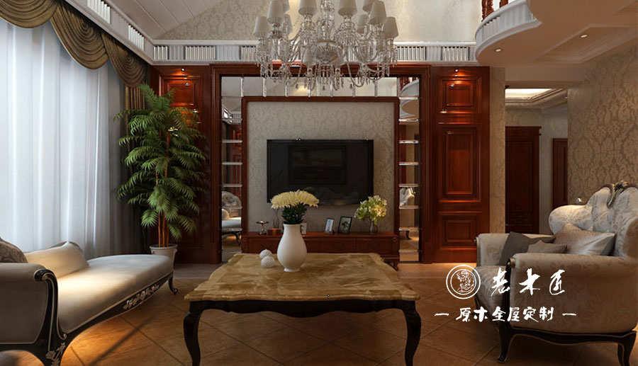 效果图大全,实木电视背景墙装修多种名贵木材精心