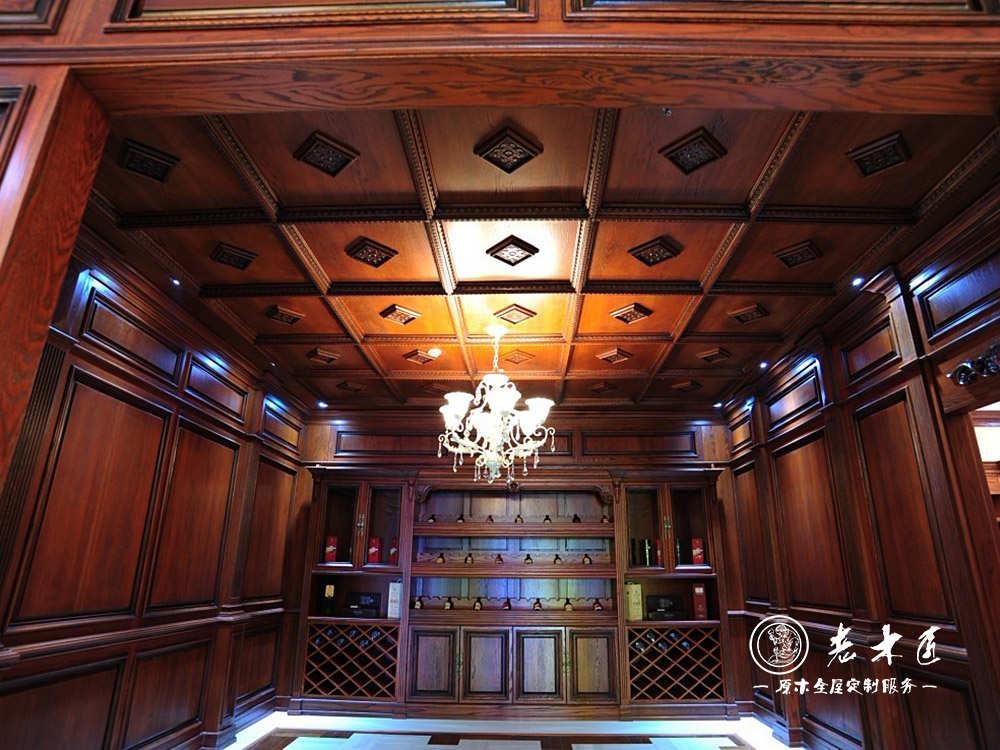 餐厅原木天花吊顶装修效果图