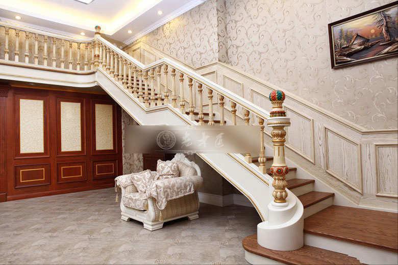 欧式楼梯扶手效果图大全