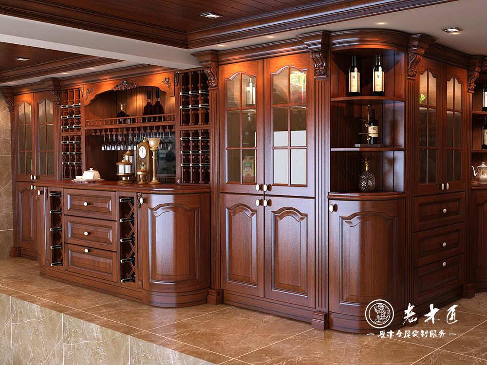 歐式酒柜訂制效果圖大全 -漳州老木匠