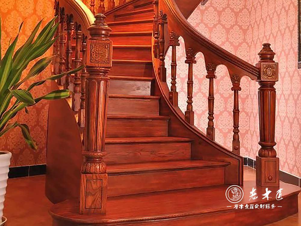 室内楼梯装修品牌 实木楼梯扶手品牌