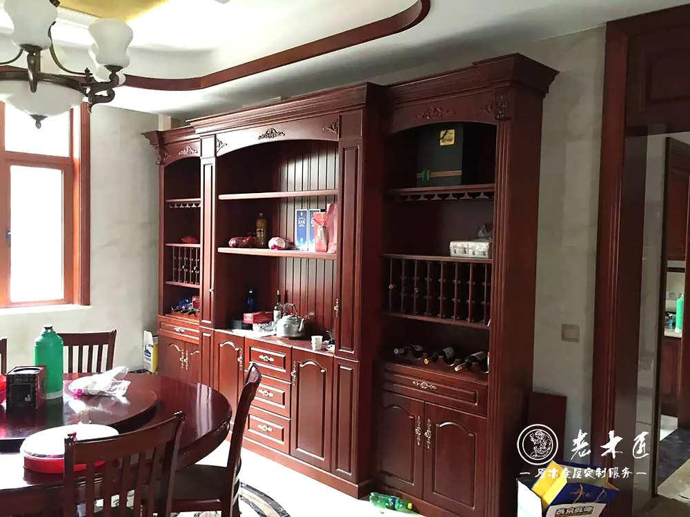 实木酒柜设计效果图 餐厅酒柜装修效果图